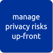 manage privacy risks upfront