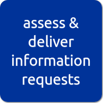 assess and deliver information requests