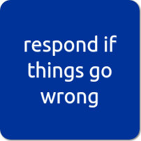 respond if things go wrong